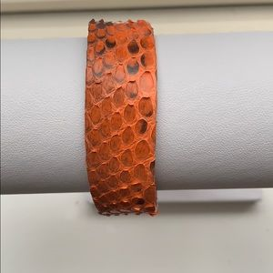 Jewelry - Leather and snake skin bracelet